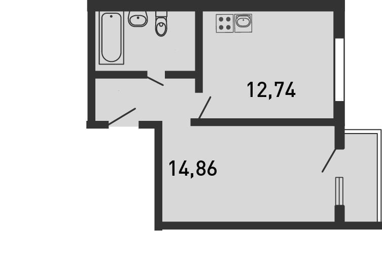 Продается 1-комнатная квартира, площадью 40.30 кв.м. Московская область, Ногинск городской округ, город Старая Купавна, улица Кирова, дом 21