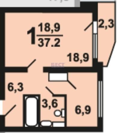 Продается 1-комнатная квартира, площадью 37.00 кв.м. Москва, улица Липчанского, дом 6А