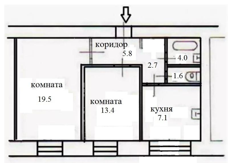 Продается 2-комнатная квартира, площадью 54.10 кв.м. Москва, улица Гончарова, дом 19А