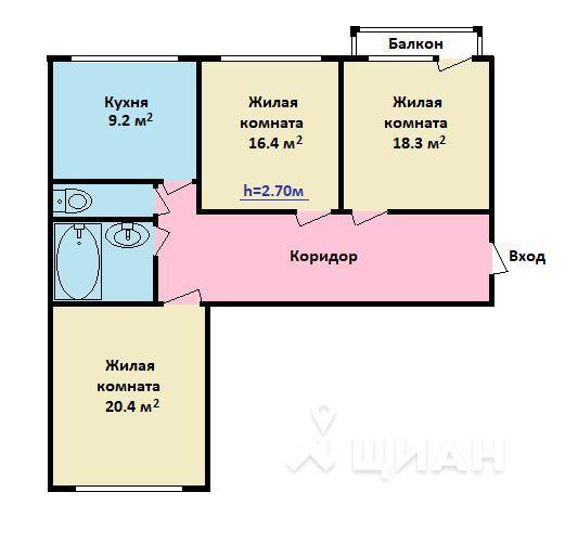 Продается 1-комнатная квартира, площадью 40.00 кв.м. Москва, набережная Даниловская, дом 2к4
