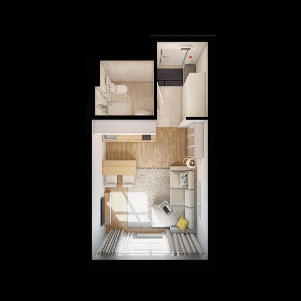 Продается 1-комнатная квартира, площадью 21.30 кв.м. Москва, улица Поляны, дом 5ак3