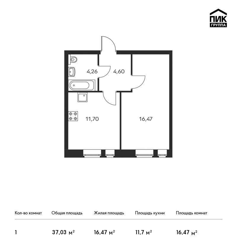 Продается 1-комнатная квартира, площадью 37.00 кв.м. Москва, Березовая аллея, дом 17к1
