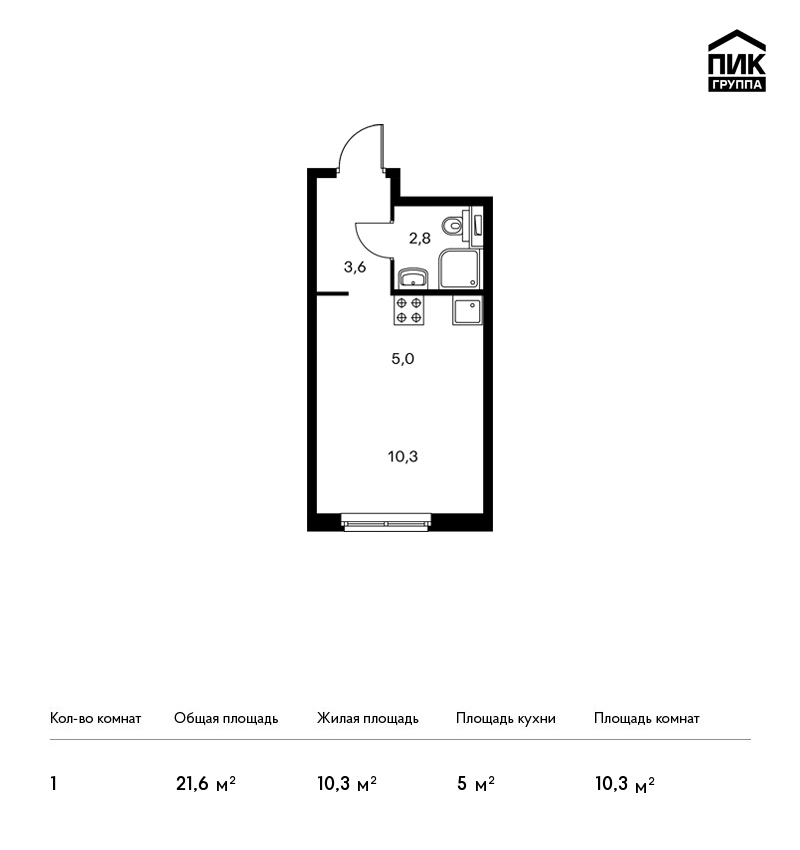 Продается 1-комнатная квартира, площадью 21.60 кв.м. Москва, улица Академика Павлова, дом 40к1