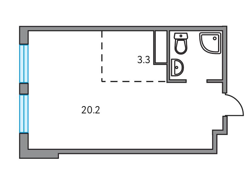 Продается 1-комнатная квартира, площадью 26.80 кв.м. Москва, Дмитровское шоссе