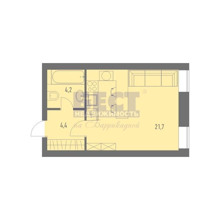 Продается 1-комнатная квартира, площадью 31.00 кв.м. Москва, Рязанский проспект, дом 6