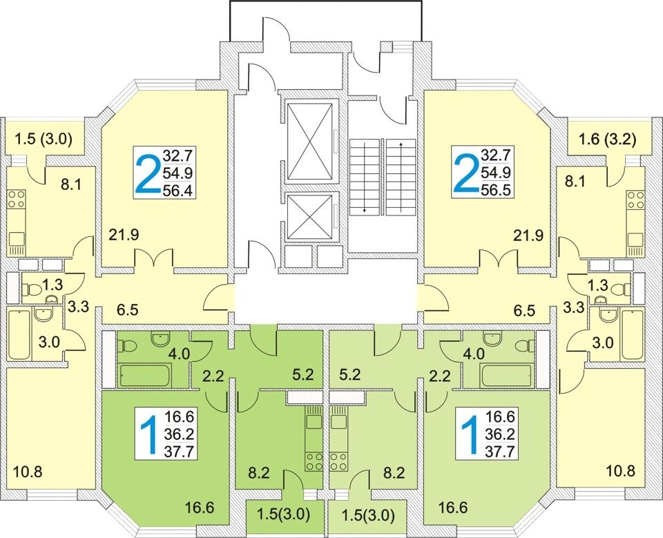 Продается 2-комнатная квартира, площадью 56.40 кв.м. Московская область, город Красноармейск, улица Морозова, дом 14