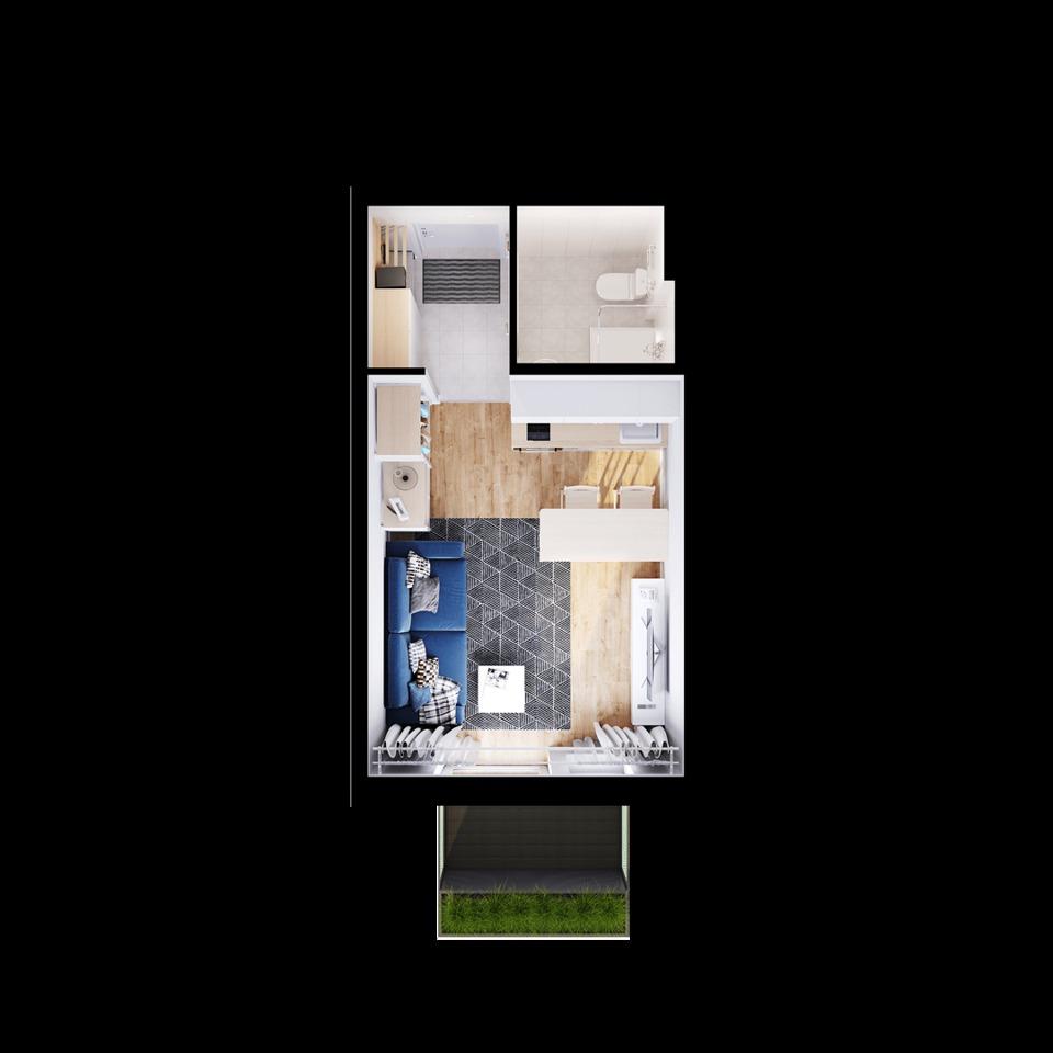 Продается 1-комнатная квартира, площадью 20.90 кв.м. Москва, улица Складочная
