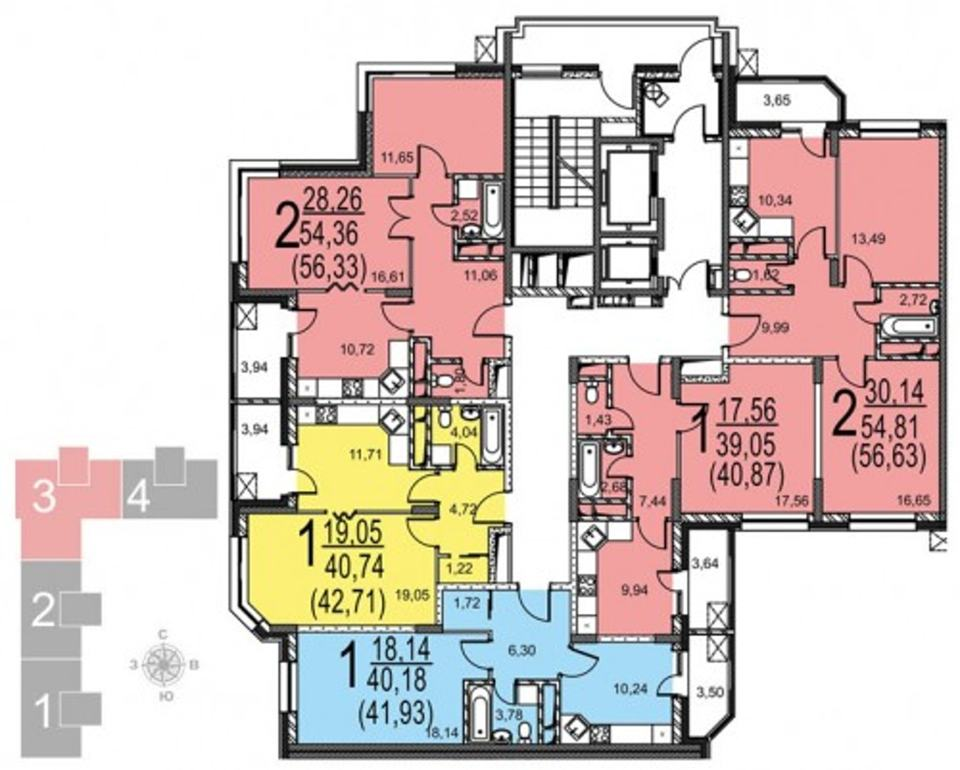 Продается 2-комнатная квартира, площадью 57.00 кв.м. Москва, улица Радиальная 6-я, дом вл7к24
