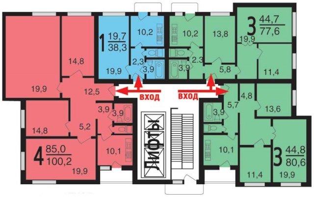 Типовые планировки квартир на
