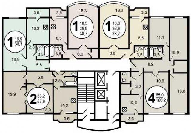 Планировка квартир серии и-155 мм. серия дома и-155 мм.