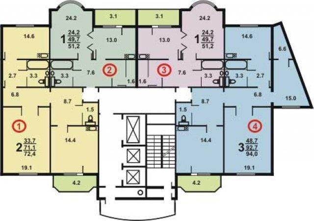 Планировки домов серии И-155