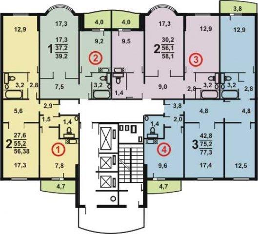 Планировки домов серии