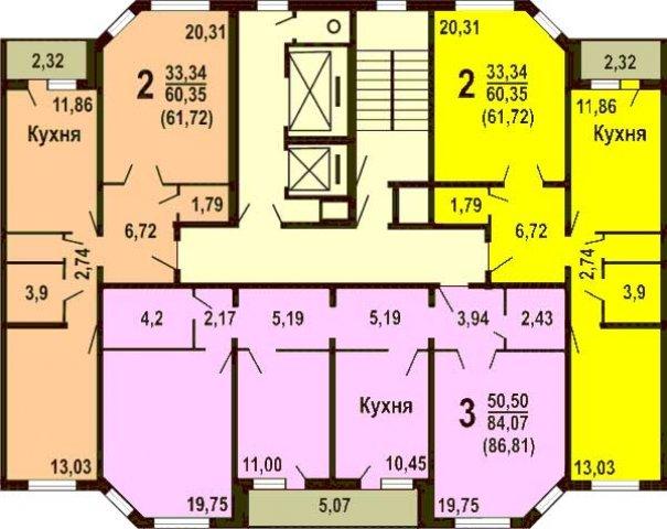 Планировки домов серии ИП-