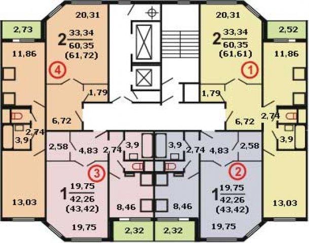 Планировки домов серии ИП-46С