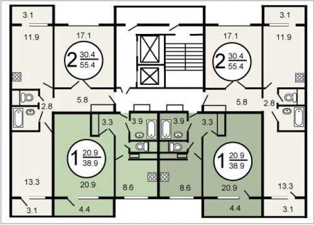 Планировки домов серии П-