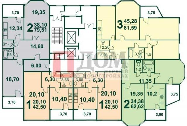 Планировки домов серии И-