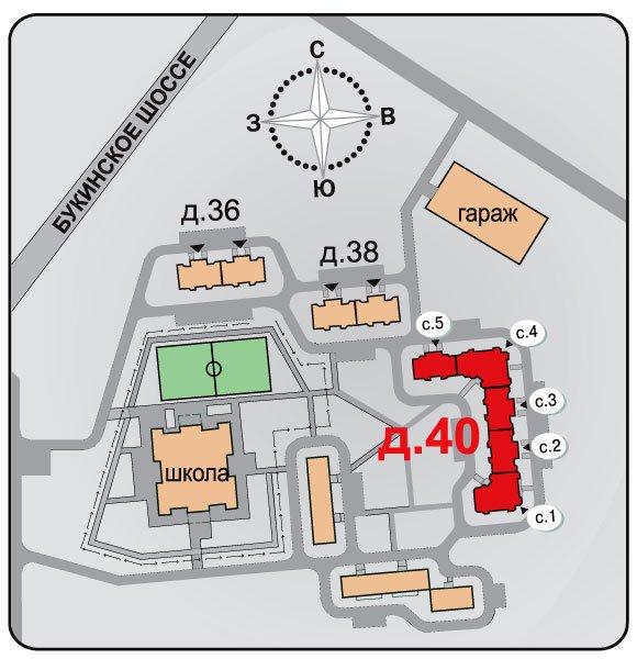 Лобня, пр-д Шадунца, 7, 9, 11 (Букинское ш., мкр. 3, корп. 40, корп. 38, корп. 36)